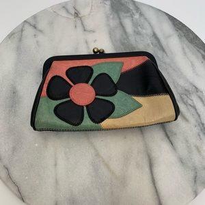 Isabella Fiore flower leather coin wallet